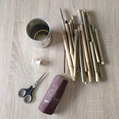 Materialien für Insektenhotel