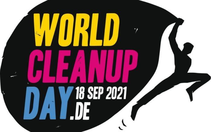 Auf dem Bild sieht man das Logo des World Clean Up Day